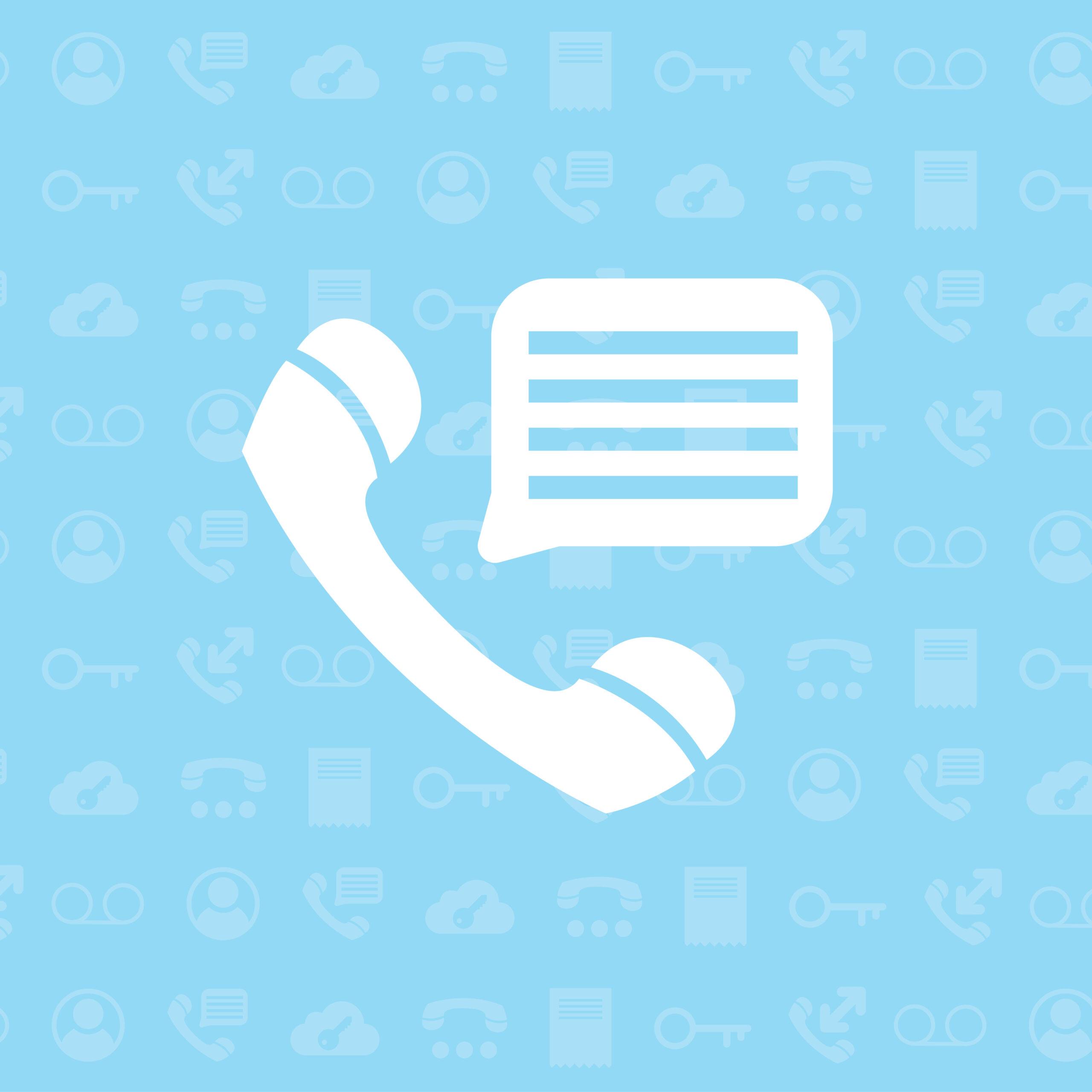 Icon illustration of phone call