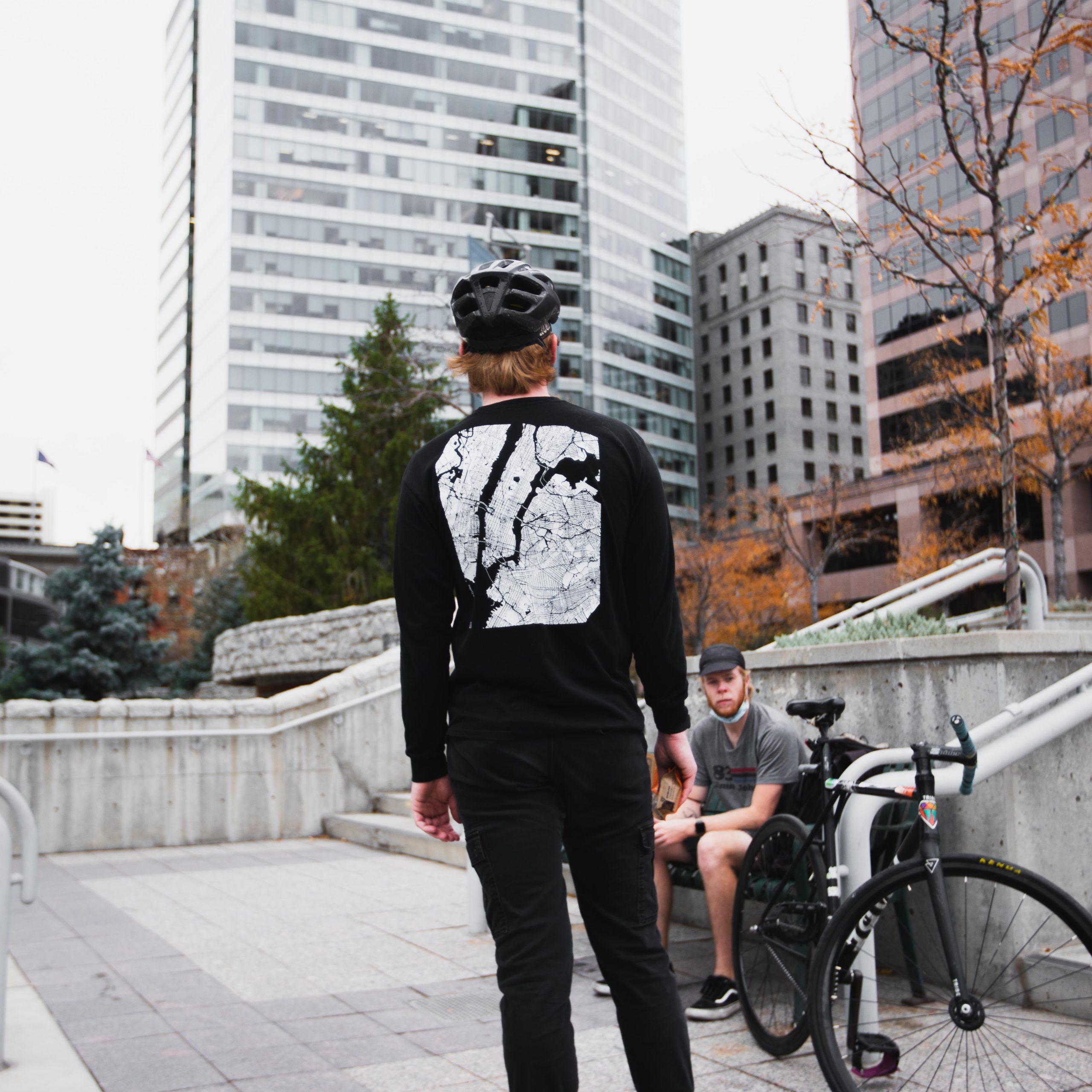 Street Team Cycling Black Long Sleeve shirt