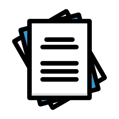Icon illustration of divorce documents