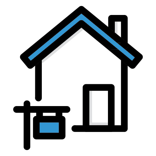 Icon illustration of home for sale