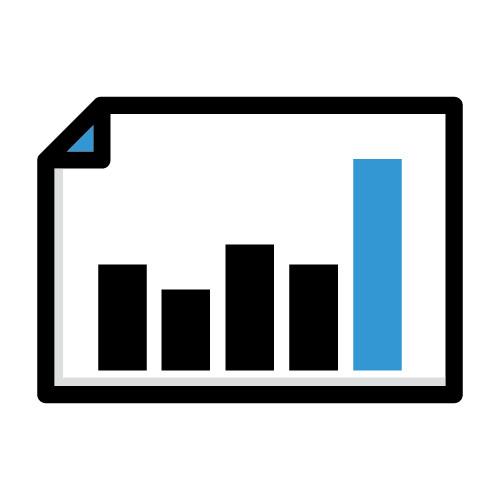 Icon illustration of stocks bar graph
